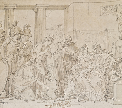 The young Pyrrhus at the court of Glaucias